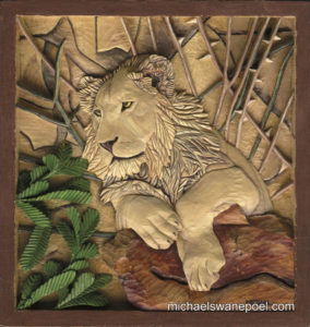 24-young-lion-39cm-x-41cm-x-3-5cm-relief-sculpture-jelutong-wood-artists-oils-michael-swanepoel-800x845