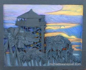 34-driehoek-oshakati-38cm-x-30cm-x-3-5cm-relief-sculpture-jelutong-wood-artists-oils-michael-swanepoel-800x645