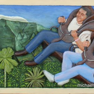 38-the-thrill-of-ratanga-56cm-x-31cm-x-3-5cm-relief-sculpture-jelutong-wood-artists-oils-michael-swanepoel-800x444