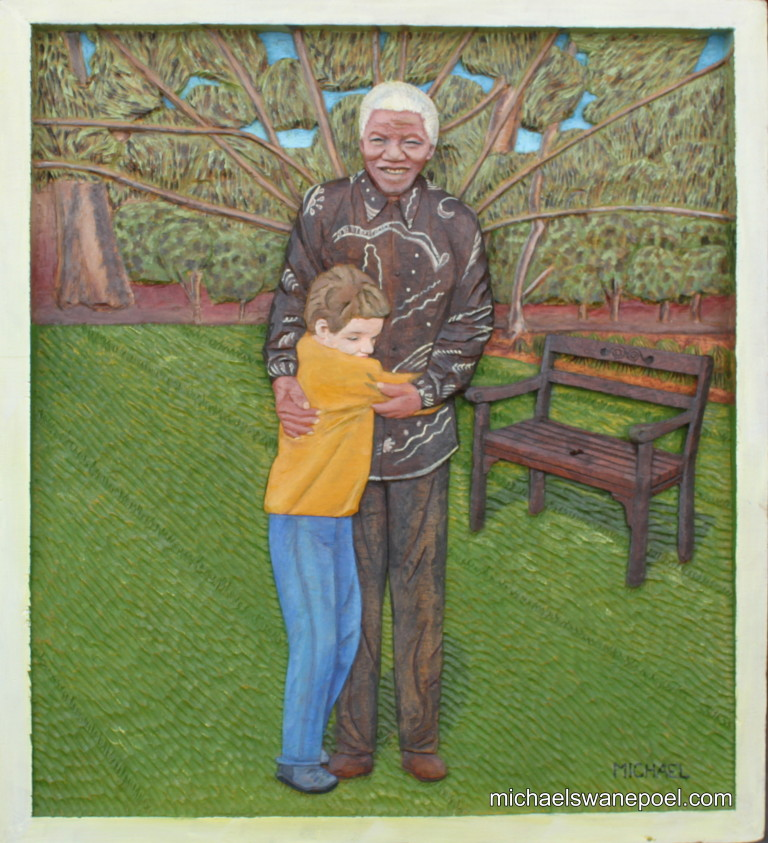 31-mr-nelson-mandela-embraced-by-south-africans-47cm-x-52cm-x-3-5cm-relief-sculpture-jelutong-wood-artists-oils-michael-swanepoel-768x843