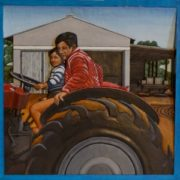 47-father-and-i-60cm-x-60cm-x-35cm-jelutong-wood-artists-oils-michael-swanepoel-large